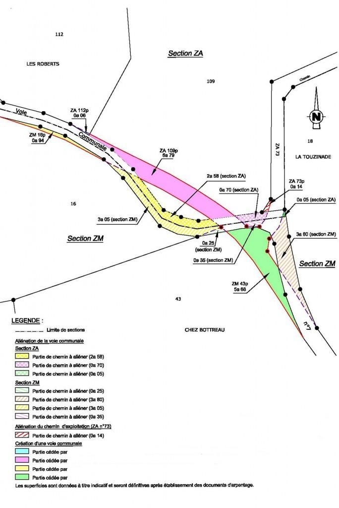 Études et conseils pour les communes - Plan parcellaire alienation voie communale