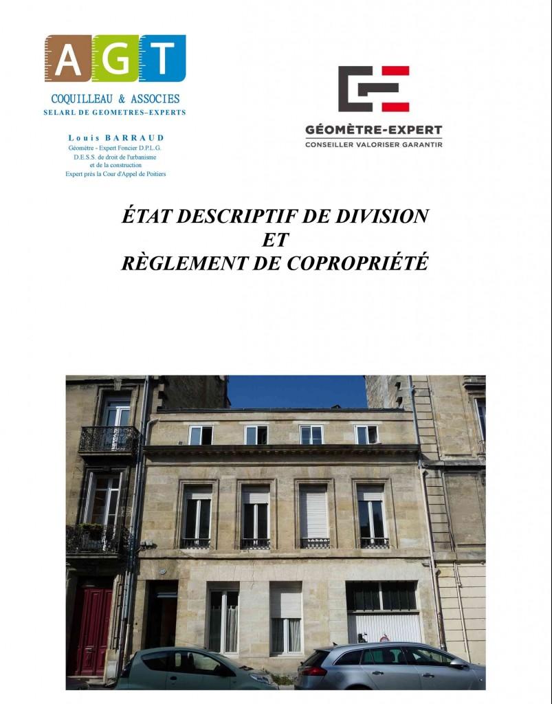 La copropriété - EDD et règlement