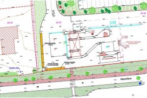 Topographie - Plan sur la commune de Mirambeau